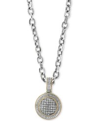 Effy Balissima By Diamond Pendant Necklace 1 3 Ct. T.W. In Sterling Silver And 18K Gold Two Tone
