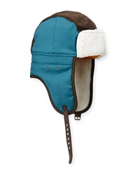 Penguin Annese Faux Shearling Trapper Hat Legion Blu