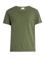 Re Done Originals X Hanes 1970 Boyfriend T Shirt Khaki