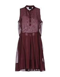 Alysi Short Dresses Maroon
