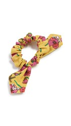 Dannijo Freya Scrunchie Yellow Pink Green