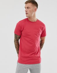 Soul Star Longline T Shirt In Red