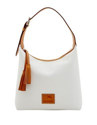 Dooney And Bourke Patterson Leather Paige Hobo White