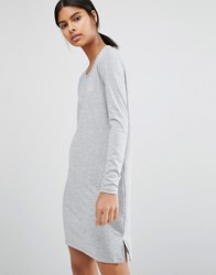 Vila Knit Mini Dress Light Grey Marl