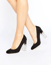 New Look Ombre Court Heeled Shoe Black