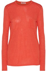 Alexander Wang T By Stretch Jersey Top Bright Orange
