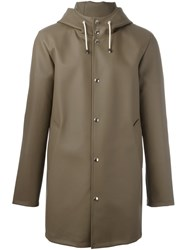 Daniele Alessandrini Button Down Hooded Coat Brown