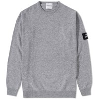 Mki Miyuki Zoku Mki Arm Badge Lambswool Crew Knit Grey