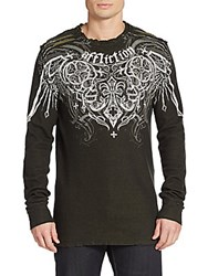 Affliction Deadly Pair Thermal Top Black