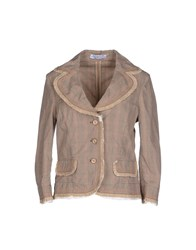 Roberta Scarpa Suits And Jackets Blazers Women Khaki