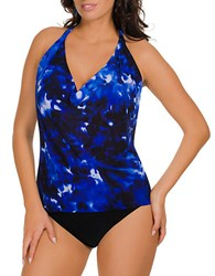 Magic Suit By Miraclesuit Tie Dye Patterned Sophie Tankini Top
