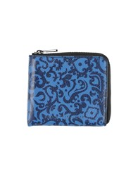 Marc By Marc Jacobs Small Leather Goods Coin Purses Men Blue