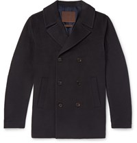 Altea Double Breasted Cashmere Peacoat Blue
