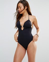 Vero Moda Tassle Tie Swimsuit Black