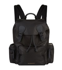 Burberry Shoes And Accessories Leather Backpack Unisex Black
