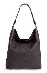 Shinola Relaxed Calfskin Leather Hobo Bag Brown Deep Brown