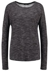 Opus Sudenaz Long Sleeved Top Raven Grey Anthracite