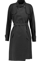 Isabel Marant Cotton And Linen Blend Trench Coat Black