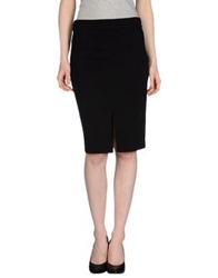 French Connection Knee Length Skirts Black