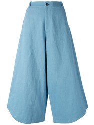Societe Anonyme Summer Cropped Trousers Blue