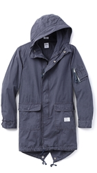 Bedwin And The Heartbreakers Chase M 51 Military Parka Navy
