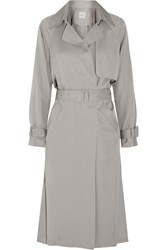 Mason By Michelle Mason Twill Trench Coat Gray