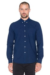 Saturdays Surf Nyc Crosby Oxford Button Up Blue
