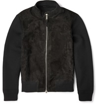 Tom Ford Icon Suede Panelled Wool Jacket Black
