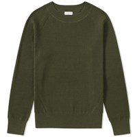 Dries Van Noten Naut Ribbed Crew Knit Green