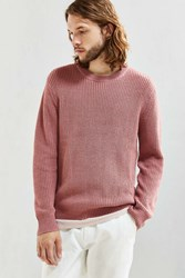 Urban Outfitters Uo Classic Crew Neck Sweater Pink