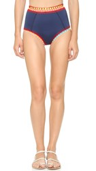Kiini Tasmin High Waisted Bikini Bottoms Navy Multi