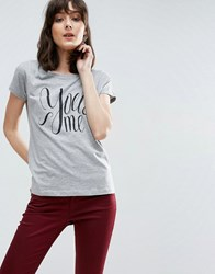 Jdy Shay Printed Who T Shirt Lgm Grey