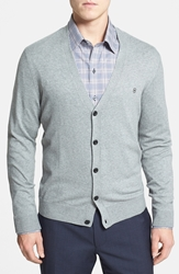 Victorinox Slim Fit Stretch Cotton Cardigan Online Only Light Grey