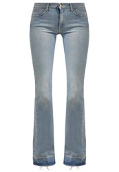 7 For All Mankind Charlize Flared Jeans Beyond Retro Bleach Out Light Blue