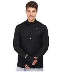 Nike Dri Fit Element Half Zip Pullover Black Reflective Silver Men's Long Sleeve Pullover