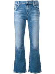 Citizens Of Humanity Flared Cropped Jeans Blue