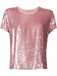 Amen Sequined T Shirt Pink Purple