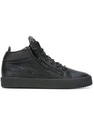 Giuseppe Zanotti Design Hi Top Sneakers Men Leather Rubber 45 Black