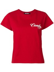 Adaptation Candy Print T Shirt Red