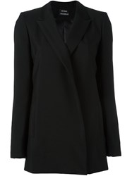 Anthony Vaccarello Classic Blazer Black