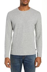 Bonobos Slim Fit Ribbed Double Face T Shirt Heather Grey