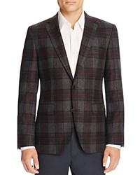 Hugo Boss Jeen Plaid Regular Fit Sport Coat Brown