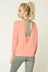 Forever 21 Active Surplice Back Top