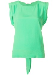 Mauro Grifoni Back Tie Blouse Green
