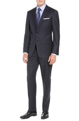 Hart Schaffner Marx New York Classic Fit Check Wool Suit Navy