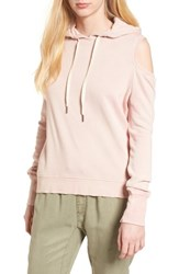 Pam And Gela 'S Cold Shoulder Hoodie Cotton Candy