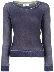 Allude Faded Effect Jumper Pink Purple
