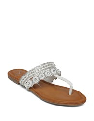 Jessica Simpson Roelle Thong Sandals With Beaded Details