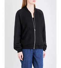 Closed Blouson Sleeve Woven Bomber Jacket Ash