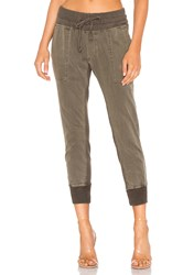 James Perse Contrast Sweatpants Olive
